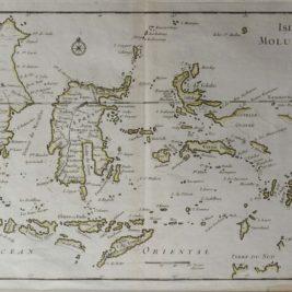 Antique map Moluccas