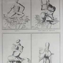 Antique print Japanese Deities