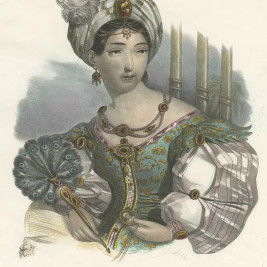 Costume Print of Asia