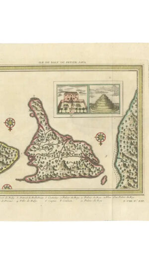 Map of Bali 'Indonesia'