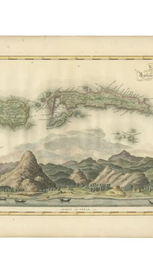 Map of Seram, Boero and the Banda Islands