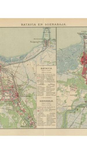 Map of Batavia and Surabaya