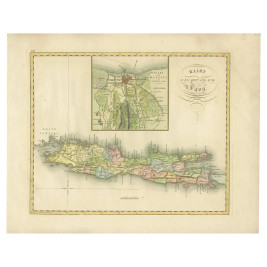 Map of Java and Batavia