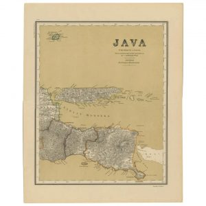 Map of Java in 4 sheets - Sheet 1