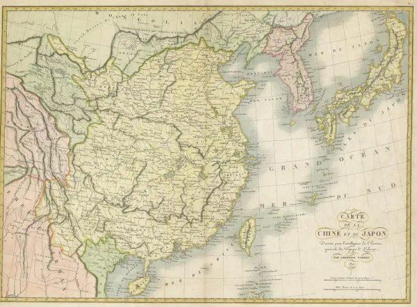 Map of China and Japan
