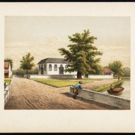 Antique Print of a Church in Batavia by Perelaer (1888)