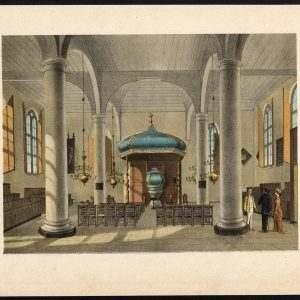 Antique Print of a Church Interior in Batavia by Perelaer (1888)