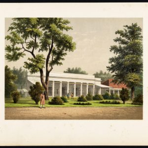 Antique Print of a Colonial Residence in Batavia by Perelaer (1888)