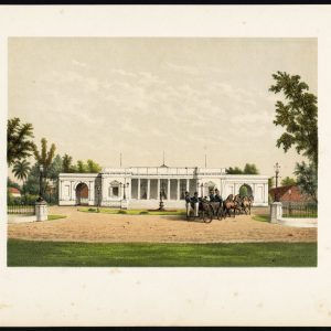 Antique Print of a Palace in Batavia by Perelaer (1888)
