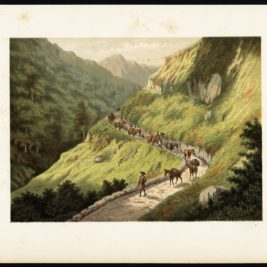 Antique Print of a Journey through the Mountains of Java by Perelaer (1888)