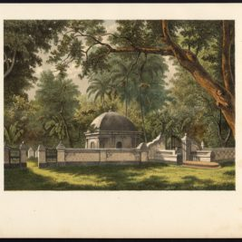 Antique Print of a Cemetery in Bontowala by Perelaer (1888)