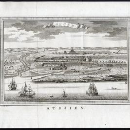Antique Print of Atjeh by Van der Schley (1756)