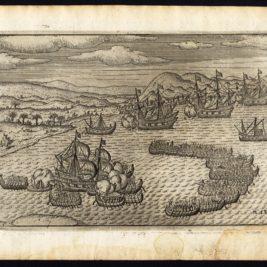 Pl.13 Afteeckeninge van de Scheep-strijd voor Bantam - Houtman (1646)