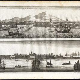 Antique Print of Batavia and the Castle of Batavia by Nieuhof (1673)