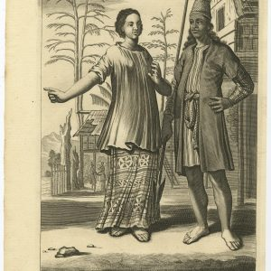 A Makasser with his Wife as they are habited at Batavia - Nieuhof (1744)
