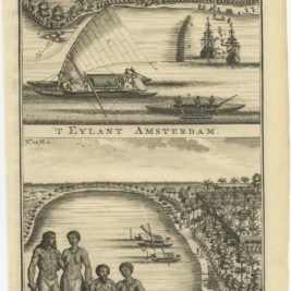 Antique Print of Amsterdam Island by Valentijn (1726)
