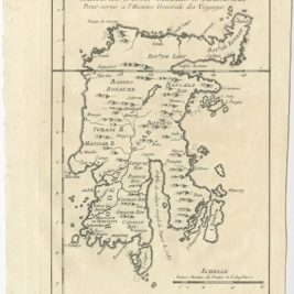 Antique Map of Celebes (Sulawesi) by Bellin (1757)