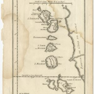 Antique Map of the Maluku Islands by Bellin (1760)
