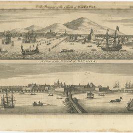 Antique Print of Batavia by Bowen (1744)