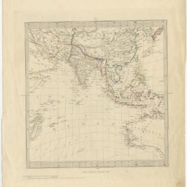 Antique Map of Southeast Asia by Walker (c.1845)