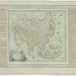 Antique Map of Asia by Brion de la Tour (1790)