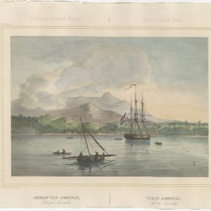 Antique Print of Ampenan by Lauters (1844)