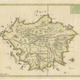 Antique Map of Borneo by Valentijn (1726)