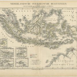 Antique Map of the Dutch East Indies by Petri (c.1873)
