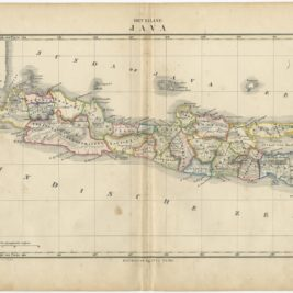 Antique Map of the Island of Java by Petri (c.1873)