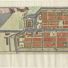 Antique Map of Batavia by Conrade (1782)
