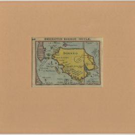 Antique Map of Borneo by Bertius (c.1610)