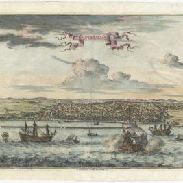 Antique Print of Bantam by Van der Aa (c.1725)