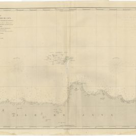 Antique Map of the Northern Coast of Java (c.1850)