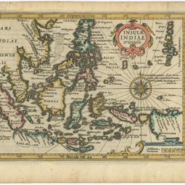 Antique Map of the East Indies by Hondius (1607)