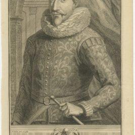 Antique Portrait of Jan Pieterszoon Coen by Valentijn (1726)