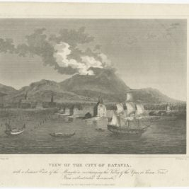 Antique Print of Batavia by Dixon (1826)