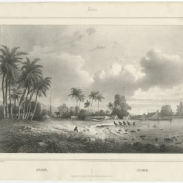 Antique Print of Anyer by Lauters (1844)