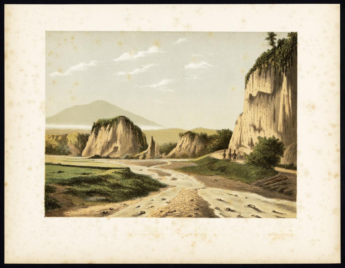 Antique Print of Ngarai Sianok by Perelaer (1888)