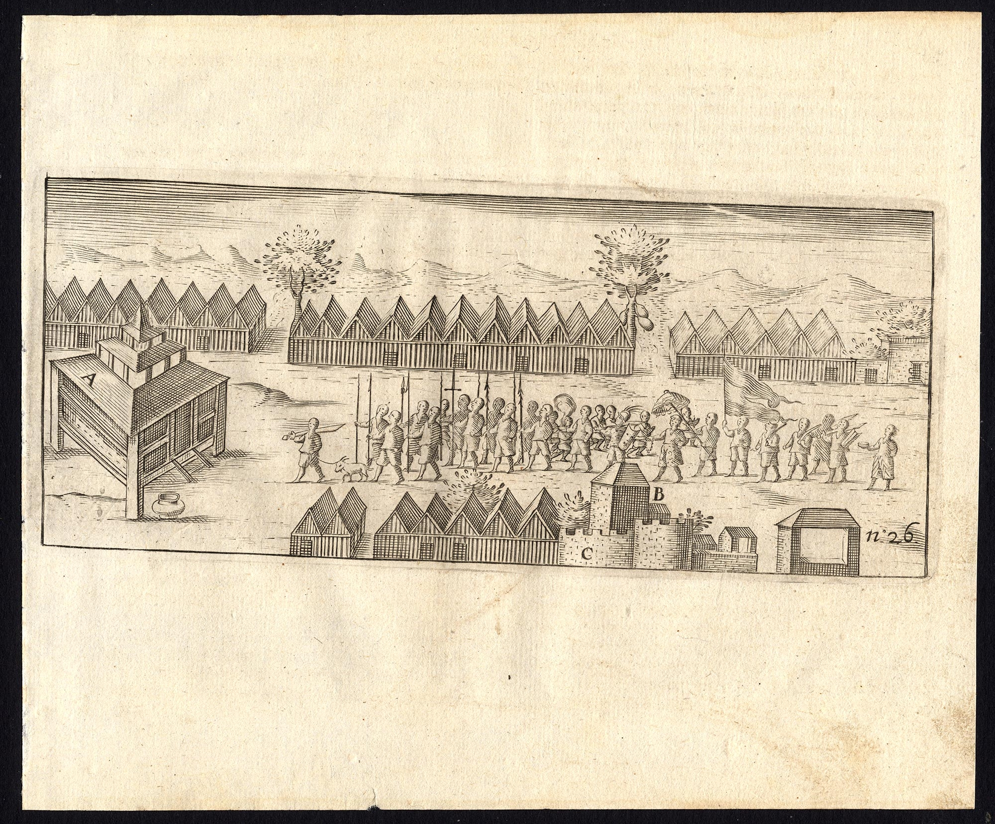 Pl.26 Ternate Sultan and Muslims going to Church - Commelin (1646)