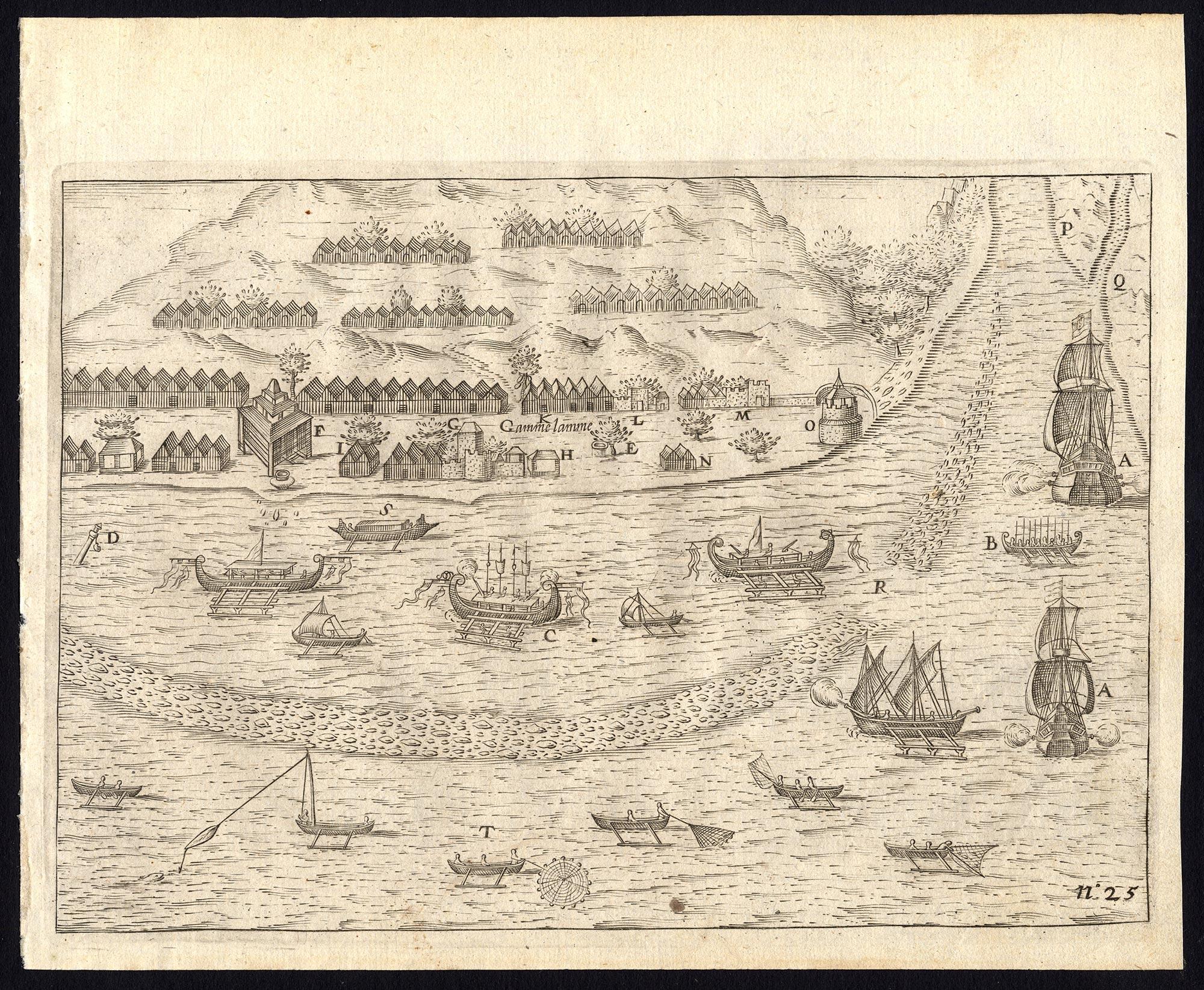 Pl.25 Two Dutch VOC ships (..) - Commelin (1646)