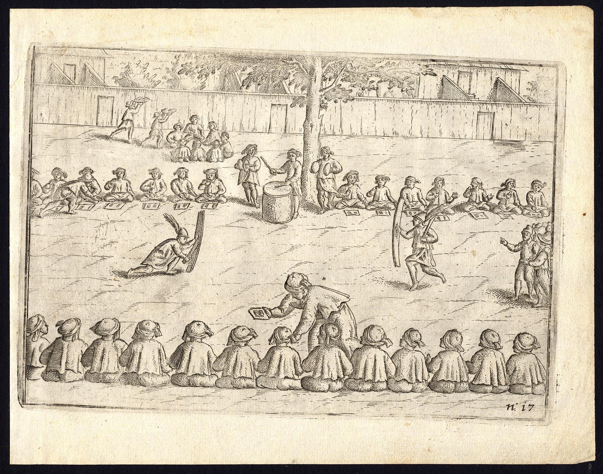 Pl.17 Afteeckeninge van hare gastmalen - Commelin (1646)