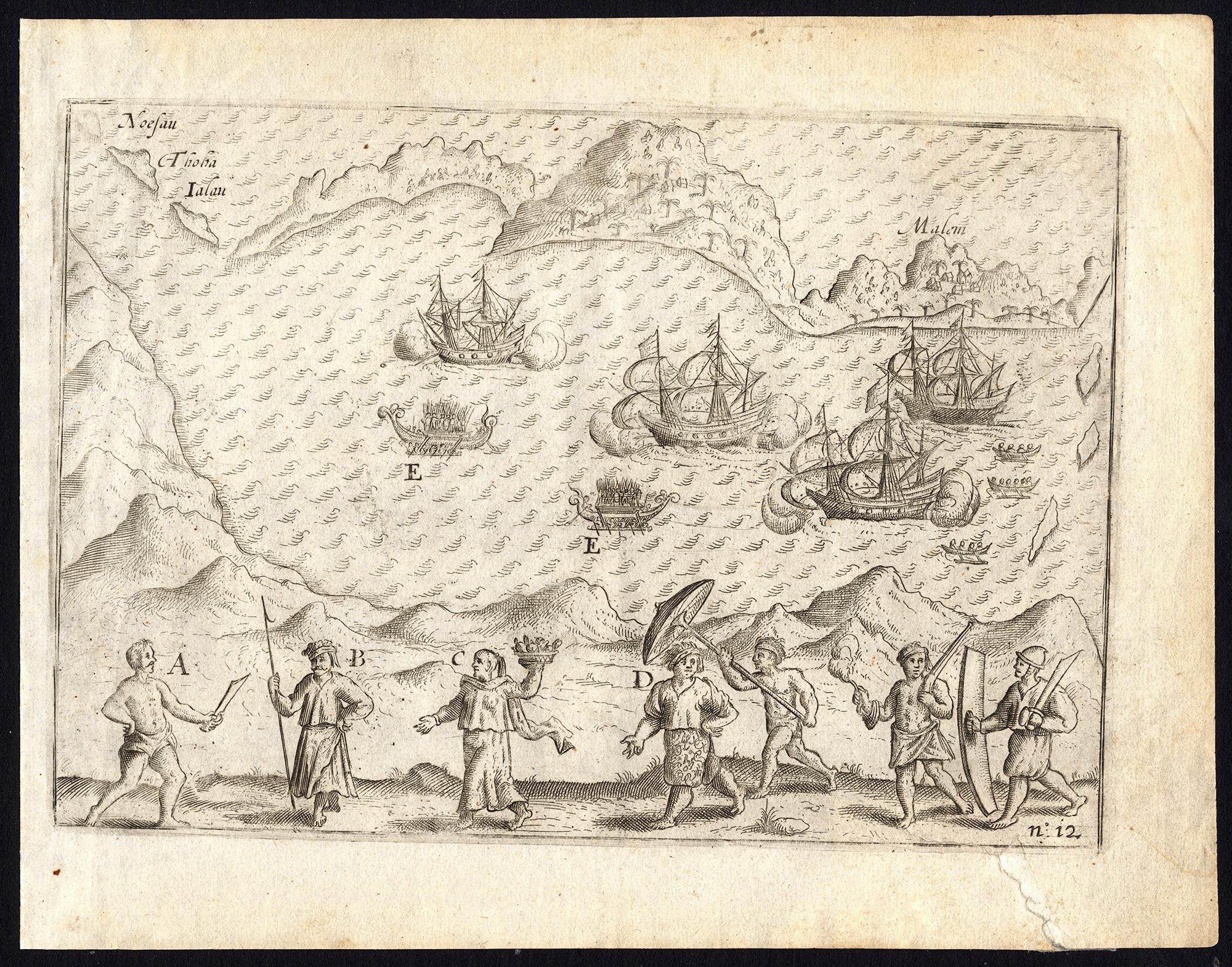 Pl.12 Afbeeldinghe van 't Eylandt Anabona - Commelin (1646)