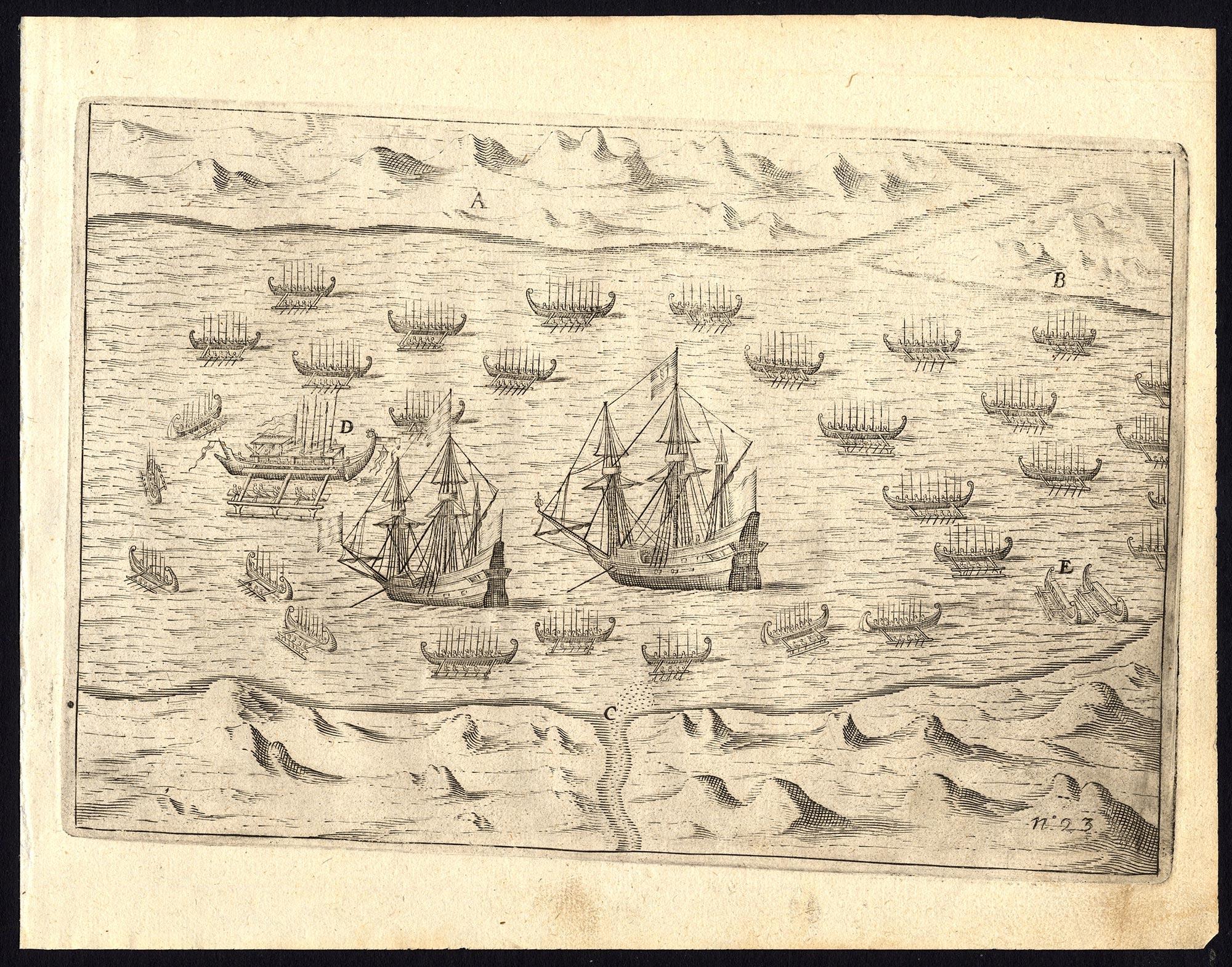 Pl. 23 Afteeckeninge van 't Eylandt Ternate - Commelin (1646)