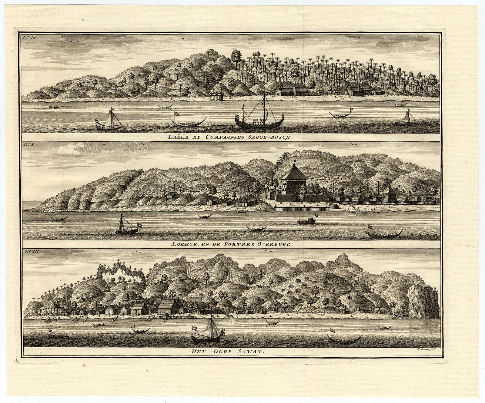 Laala by Compagnies Sagoe-Bosch, Loehoe en de Fortres Overburg, het dorp Saway - Valentijn (1726)