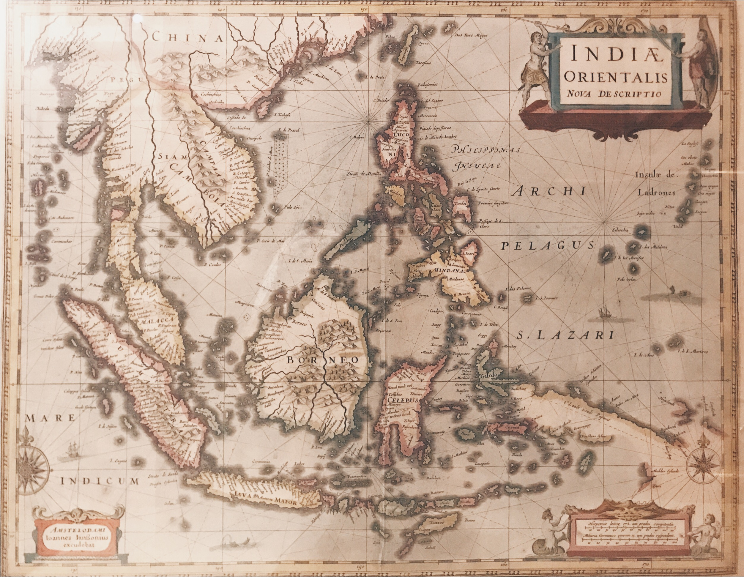 Map of Southeast Asia and the Philippines - Jansson (1630)