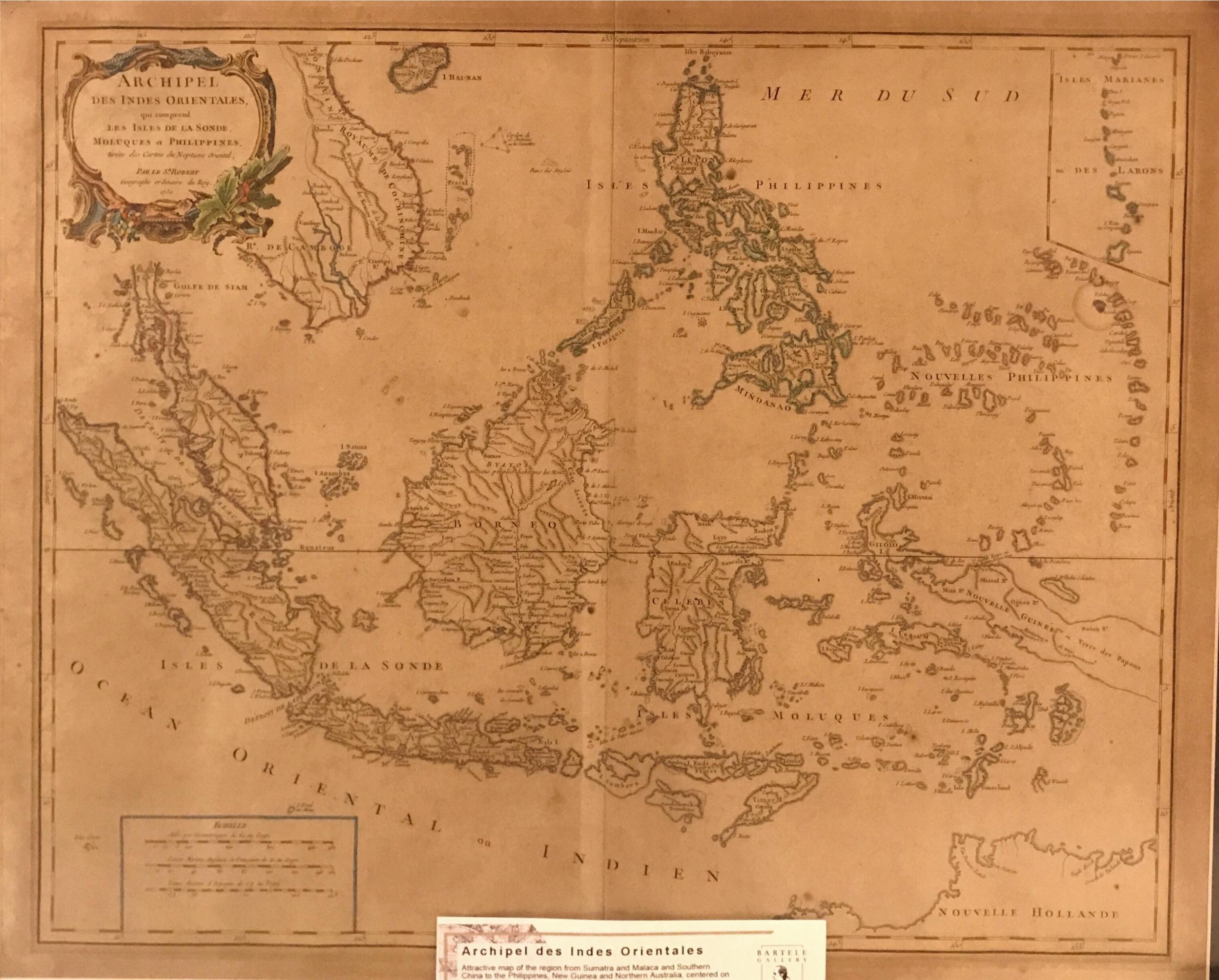 Map of Indonesia - Vaugondy (c.1750)
