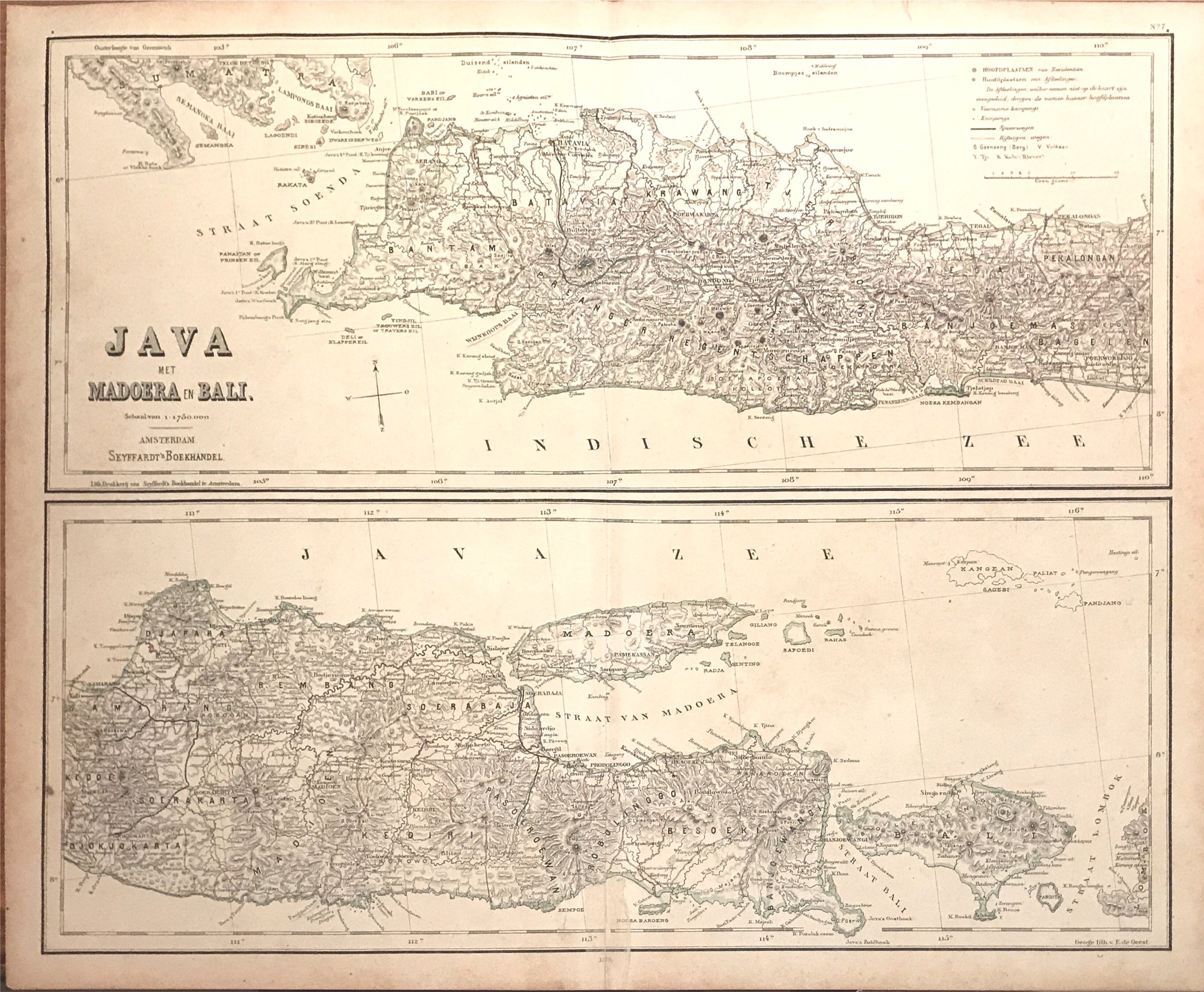 Maps of Java, Madoera and Bali - Unknown (c.1879)