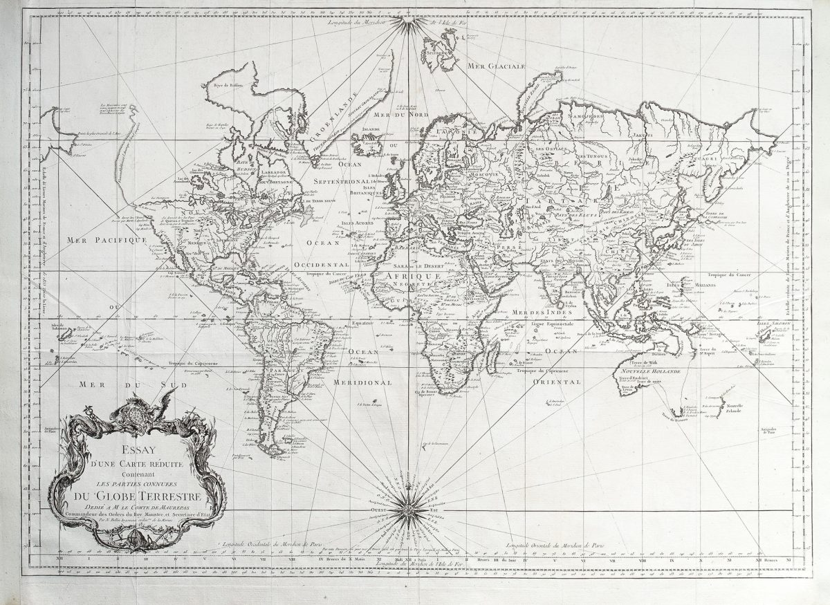 Map of the World - Bellin (1748)
