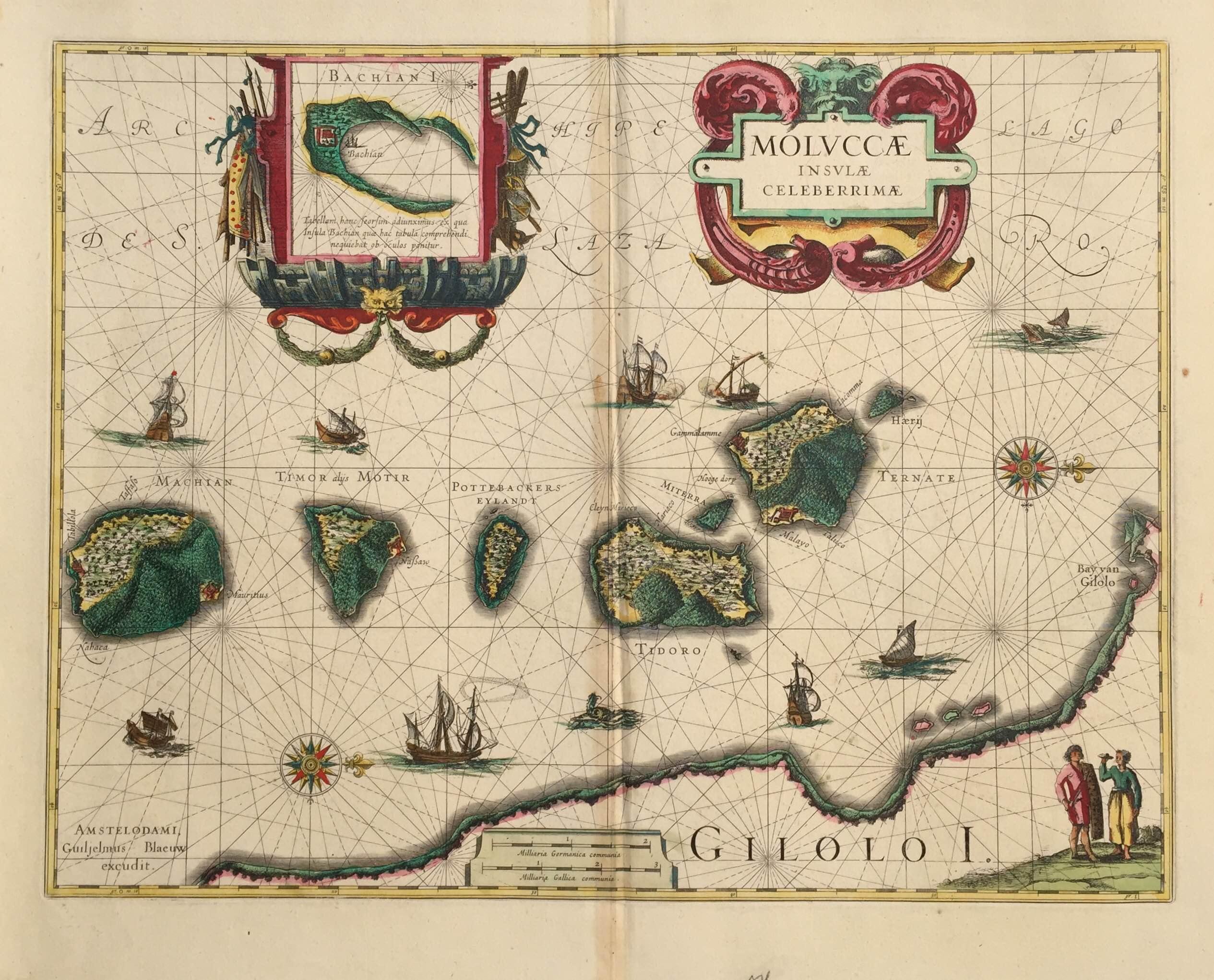 Antique Map Spice Islands by Blaeu (c.1630)