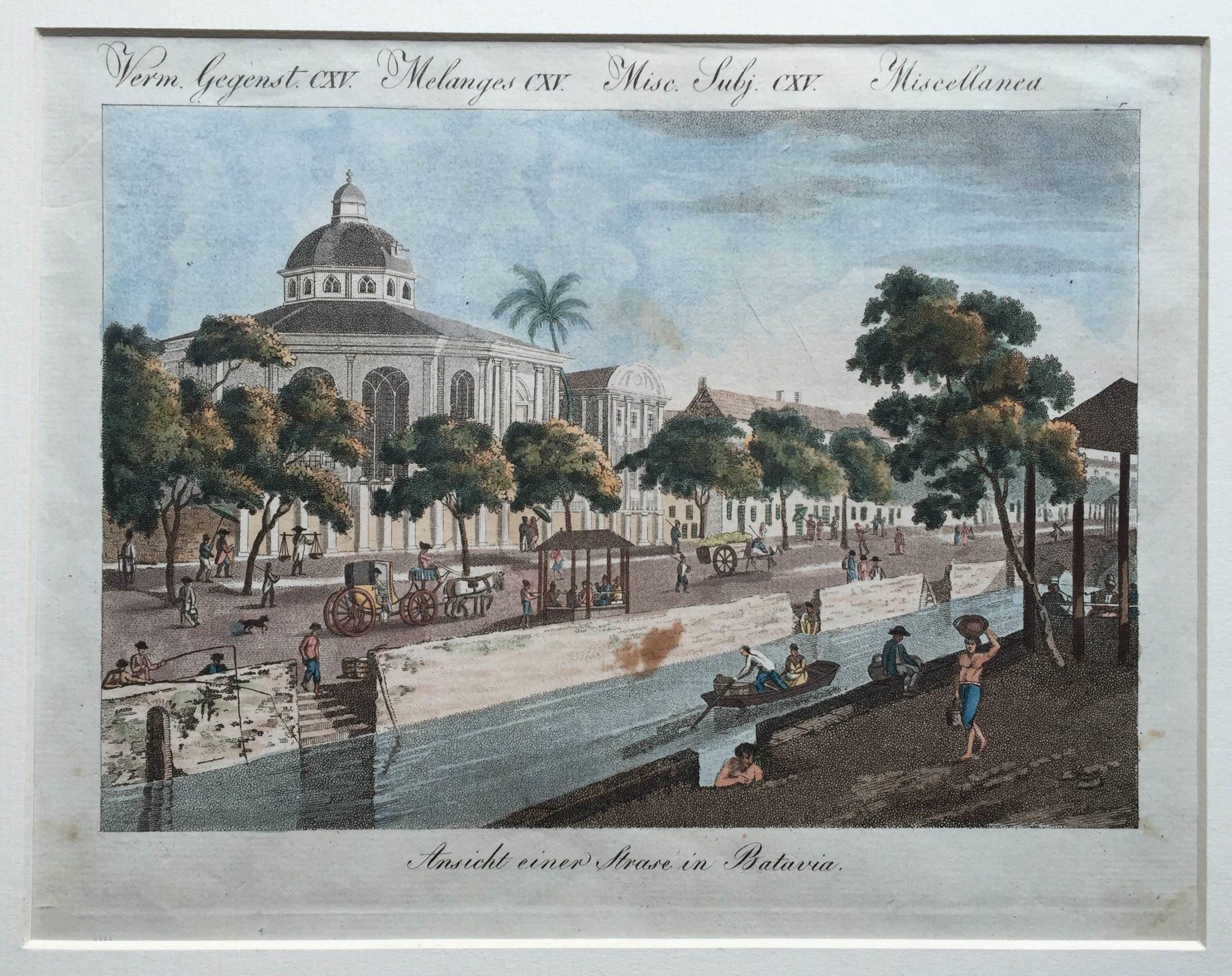Batavia street canal view - Bertuch (1830)